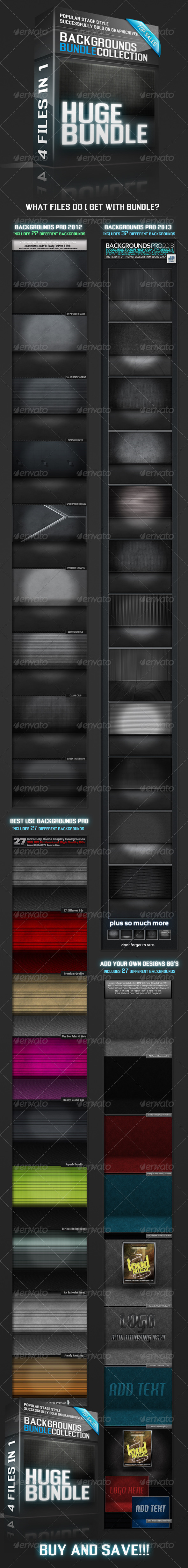 GraphicRiver Mock Up Style Backgrounds Bundle 5986901