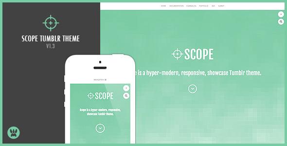 View live Demo for Scope - Responsive Showcase Tumblr Portfolio Theme