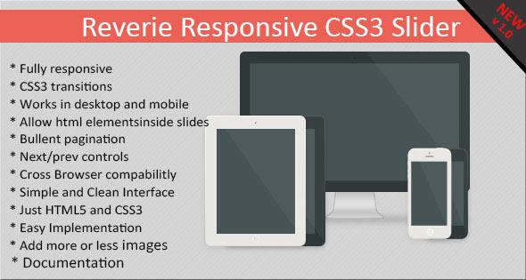 CodeCanyon Reverie Responsive CSS3 Slider 5986959