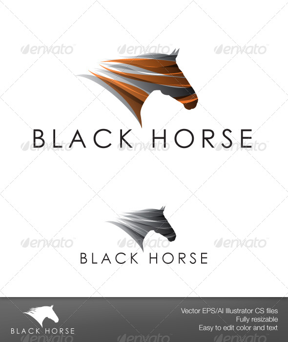 GraphicRiver Black Horse 5981114