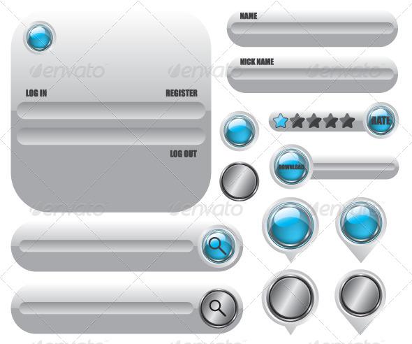 GraphicRiver Web Elements Icon Set 5987575