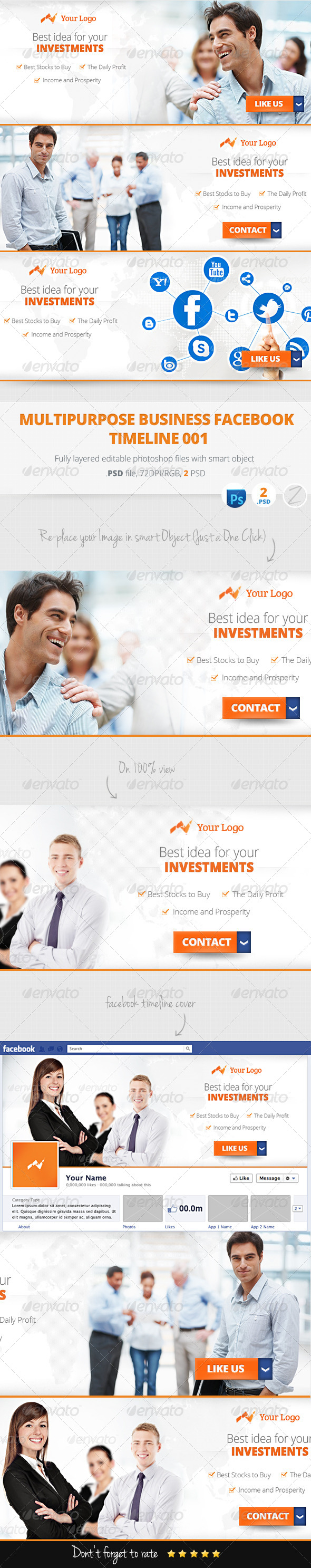 GraphicRiver Multipurpose Business Marketing Facebook Cover 001 5965151