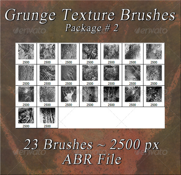 GraphicRiver Grunge Texture Brushes Pkg #2 5987727