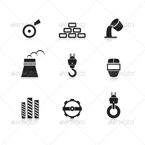 GraphicRiver Metal Industry Icon Set 5987751