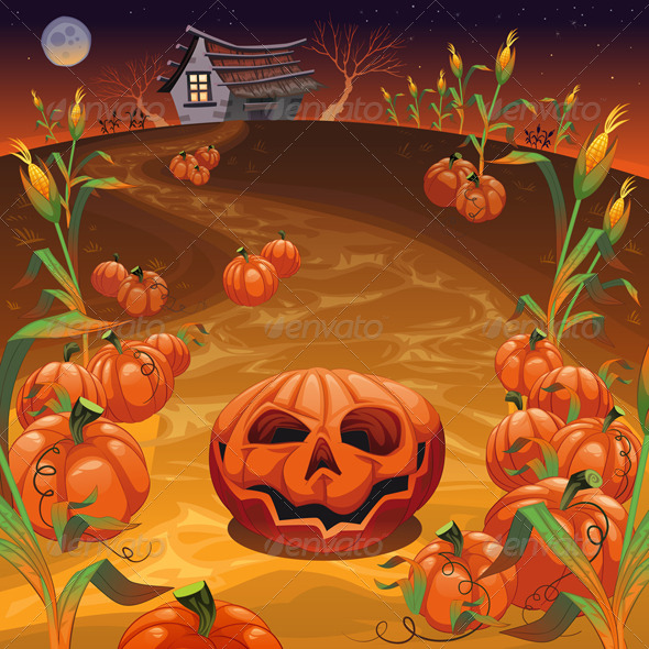 GraphicRiver Pumpkins in the Field 5987752