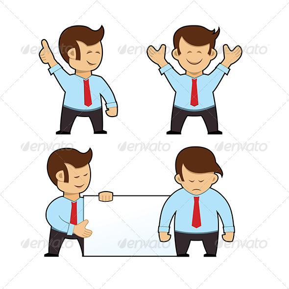 GraphicRiver Cartoon Businessman Set 5987808