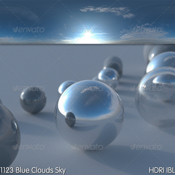HDRI IBL 1123 Blue Clouds Sky