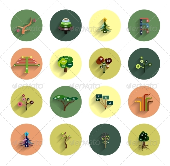 GraphicRiver Flat Eco Tree Infographic Icon Design Templates 5987858