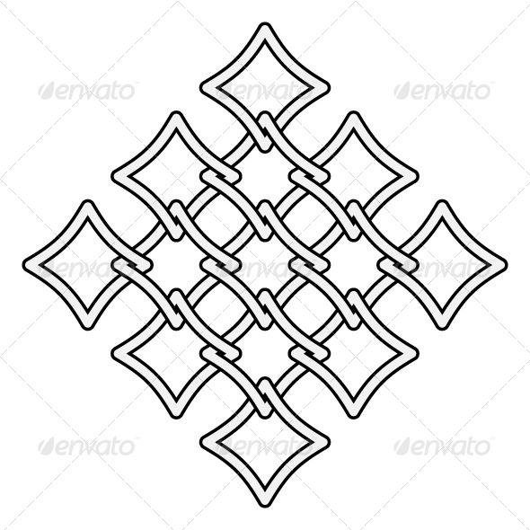 GraphicRiver Fences Pattern Celtic Style 5987862