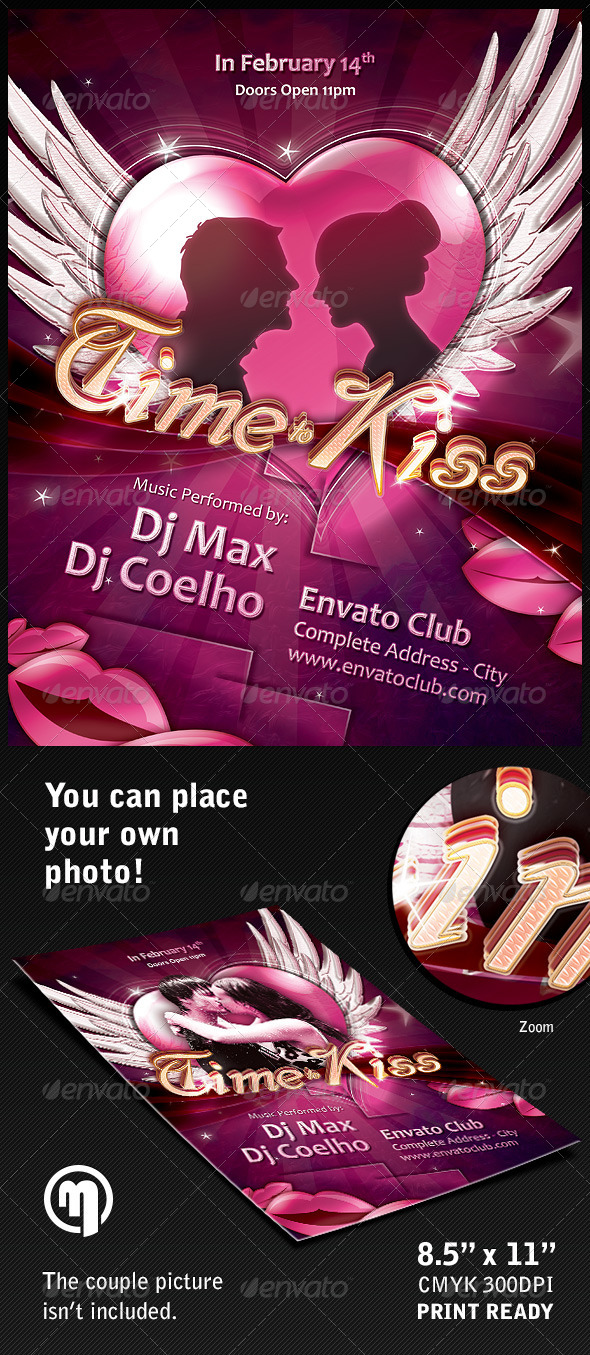 GraphicRiver Time to Kiss Flyer Template 5959305