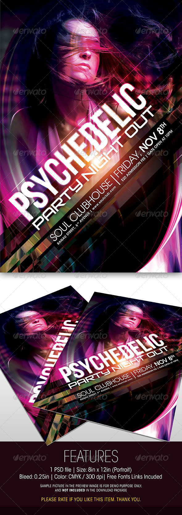 GraphicRiver Psychedelic Party Flyer 5987982