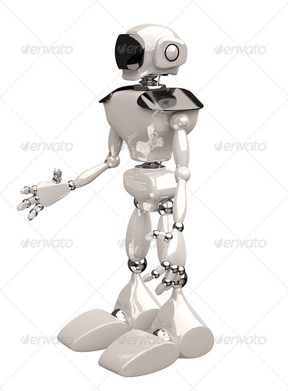 GraphicRiver Robot on White Background 5988278