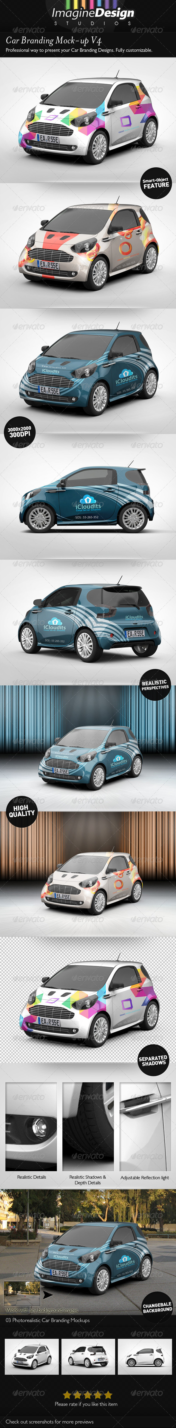 Car Branding Mock-Up V4 - Vehicle Wraps Print