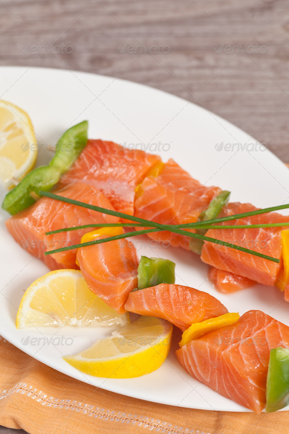 Stock Photo - PhotoDune Salmon skewer 628575