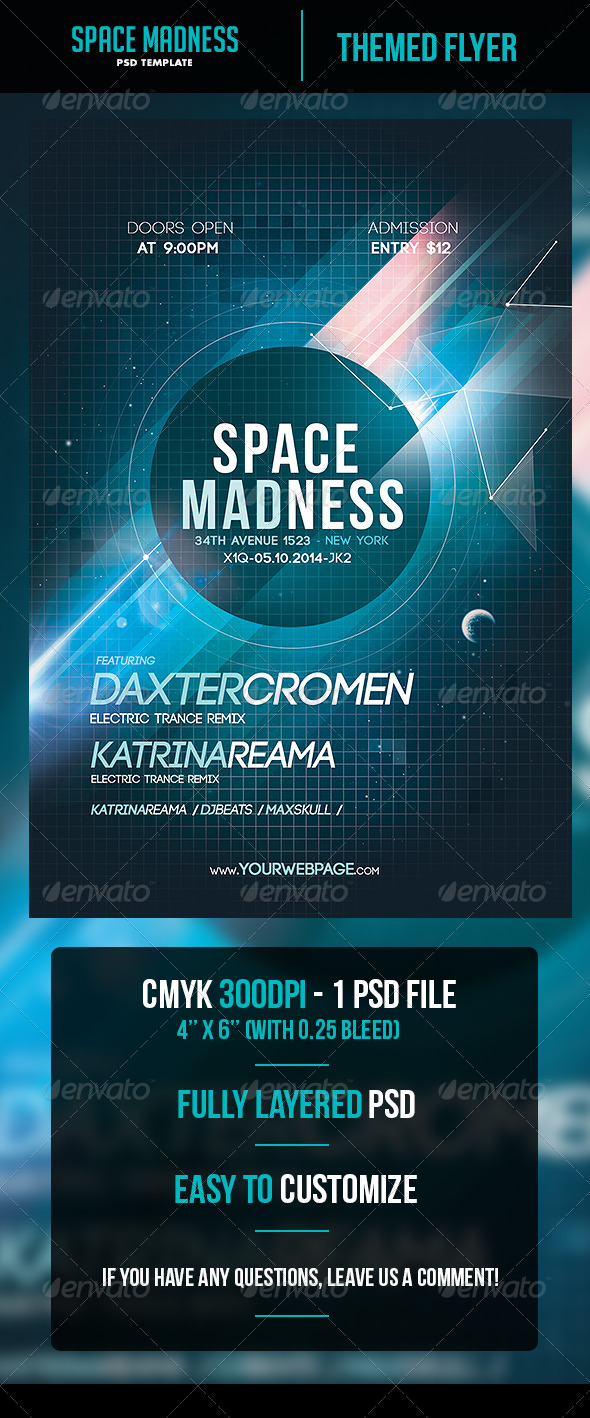 GraphicRiver Space Madness Flyer Template 5988292