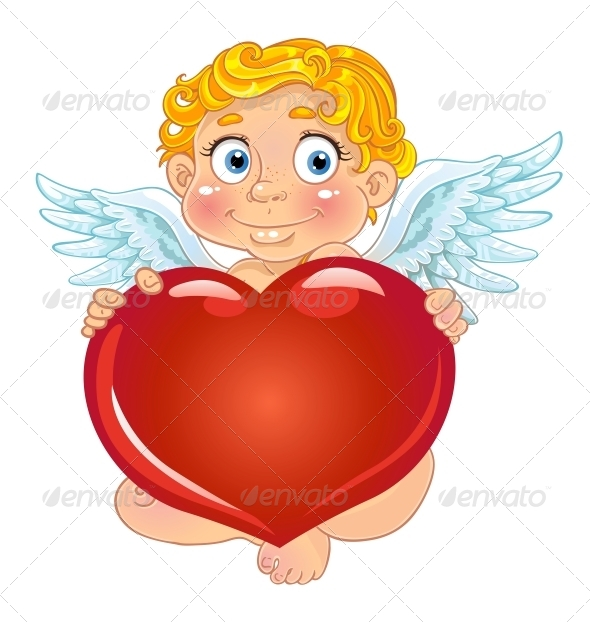 GraphicRiver Cupid with Red Heart 5988357
