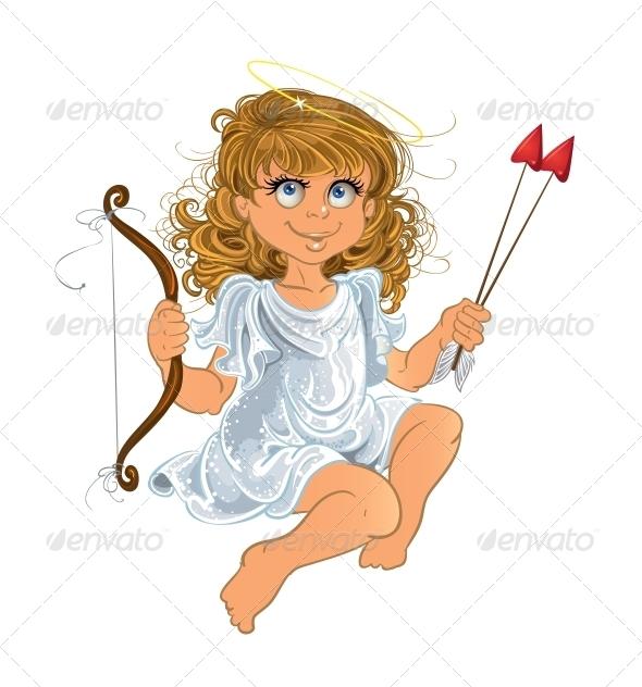 GraphicRiver Pretty Valentine`s Day Angel Girl 5988406