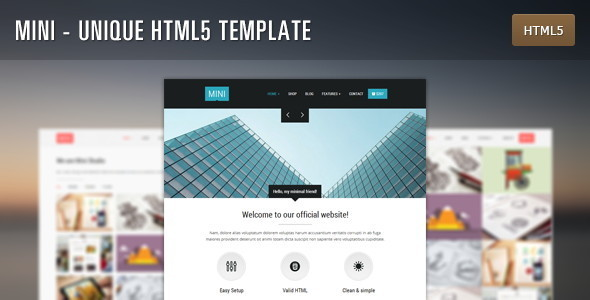 ThemeForest Mini Unique HTML5 Template 5944986