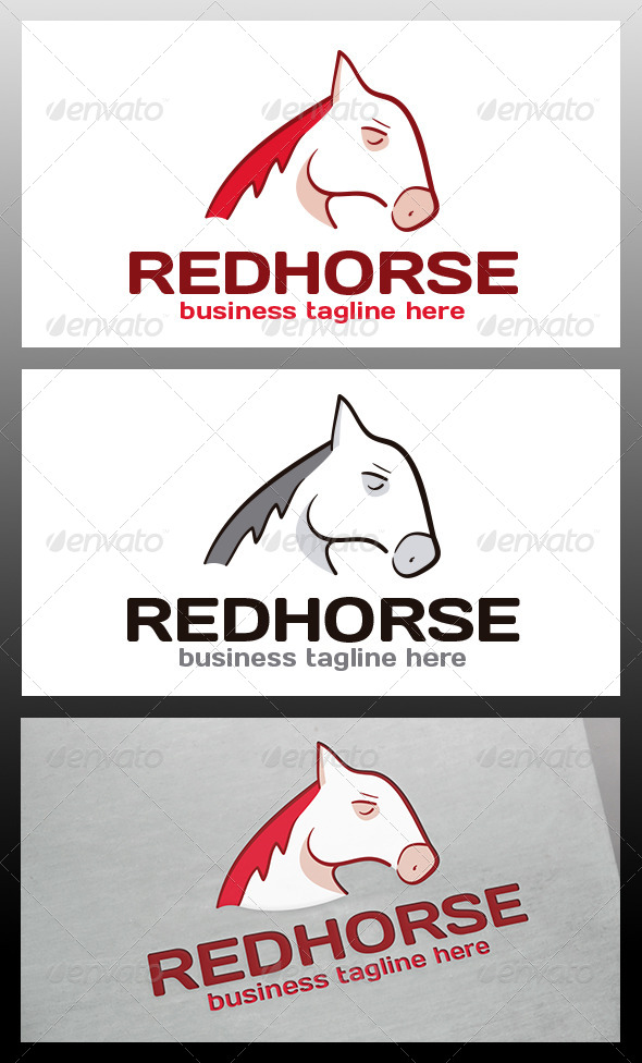 GraphicRiver Red Horse Logo Template 5988437