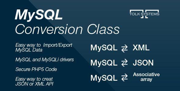 CodeCanyon MySQL Conversion Class 5951592