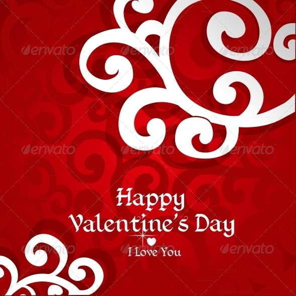 GraphicRiver Abstract Valentine Card 5988522