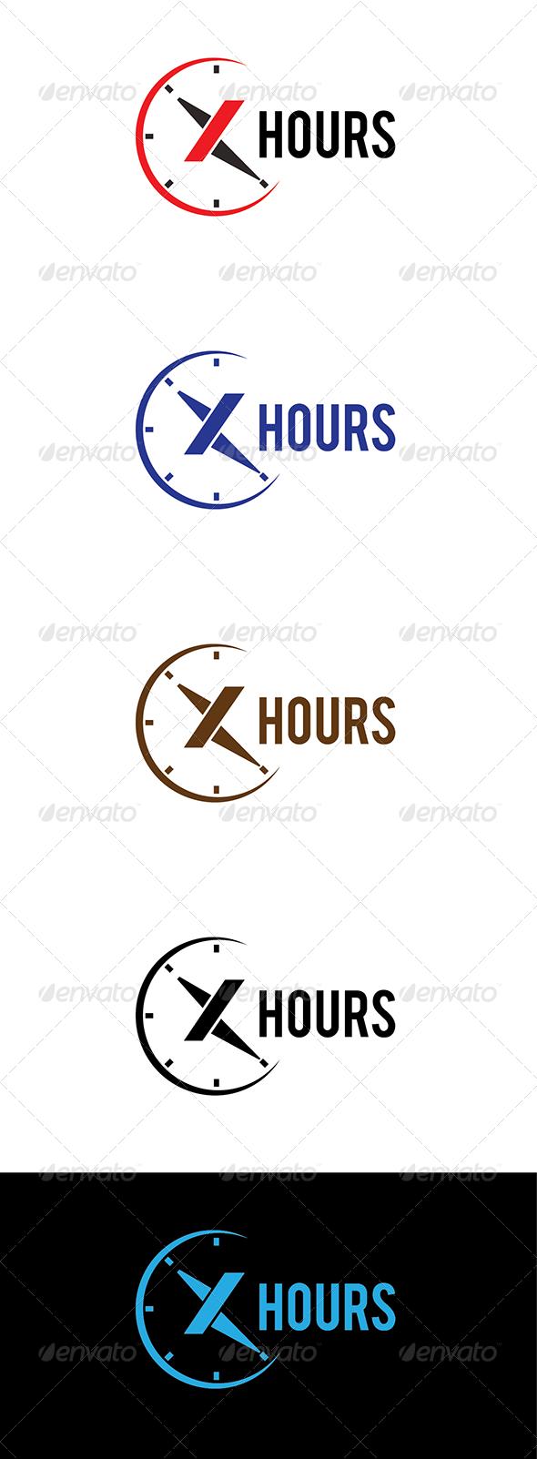 GraphicRiver X Hours Logo 5988536