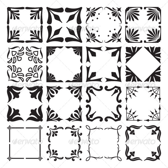 GraphicRiver Set of Decorative Corners and Frames 5988602