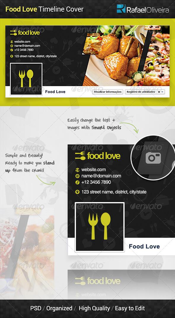 Food Love Facebook Timeline Cover