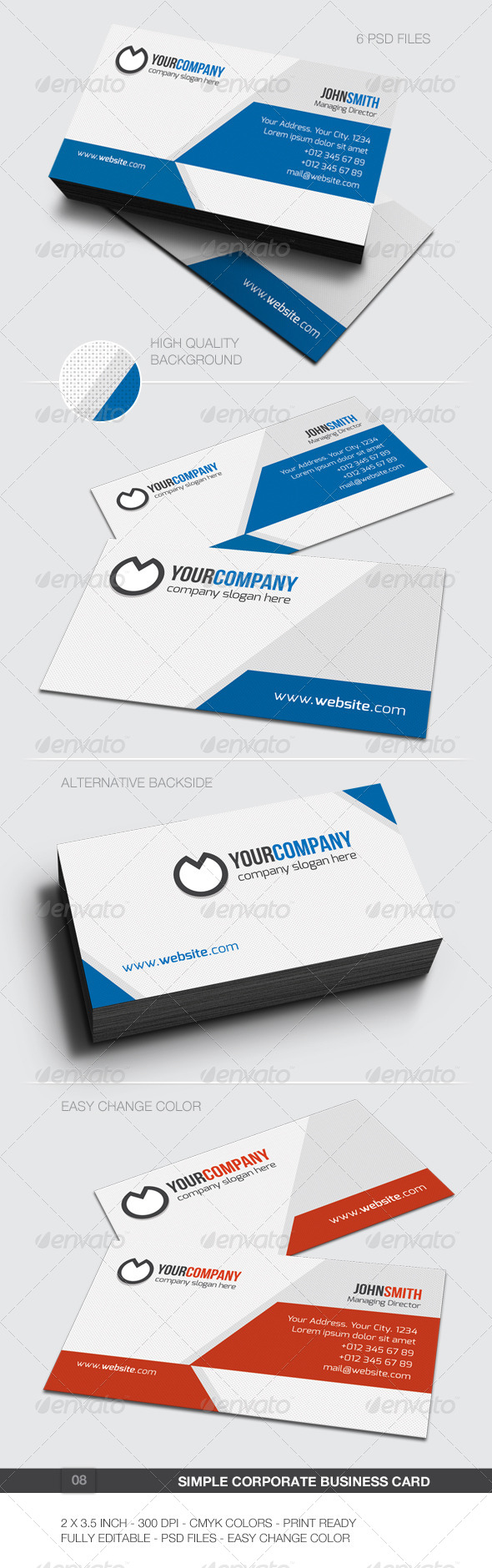 GraphicRiver Simple Corporate Business Card 08 5988906