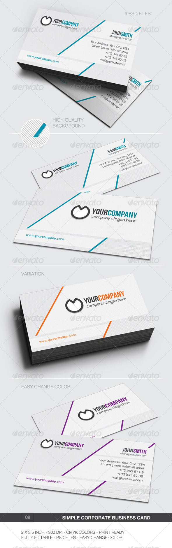 GraphicRiver Simple Corporate Business Card 09 5988915