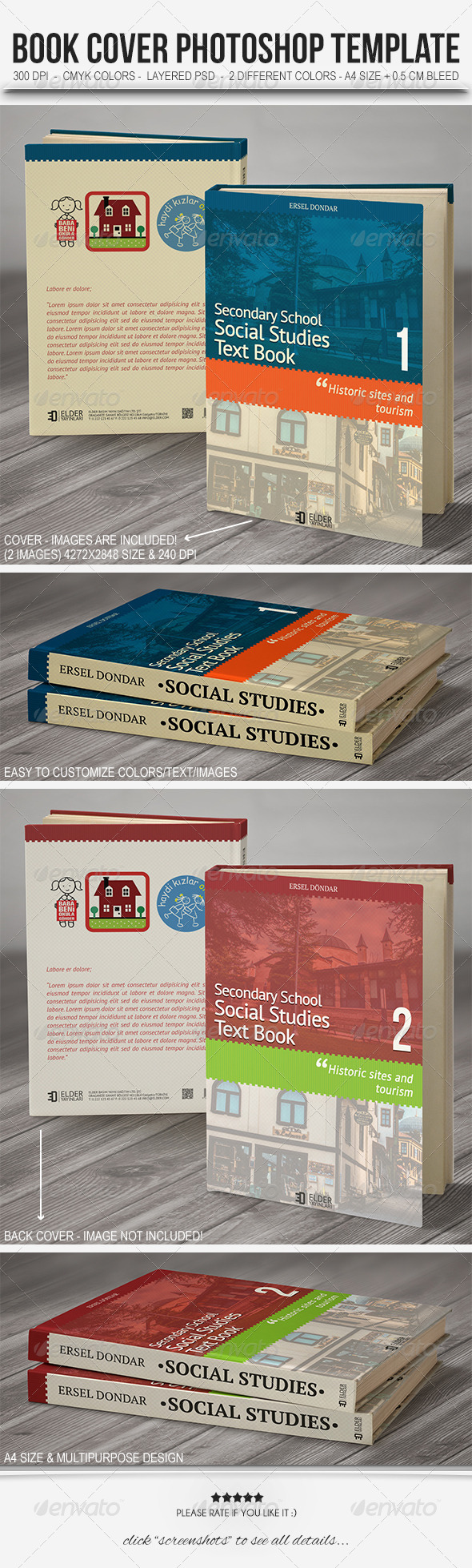 GraphicRiver Textbook Cover Template 5988918