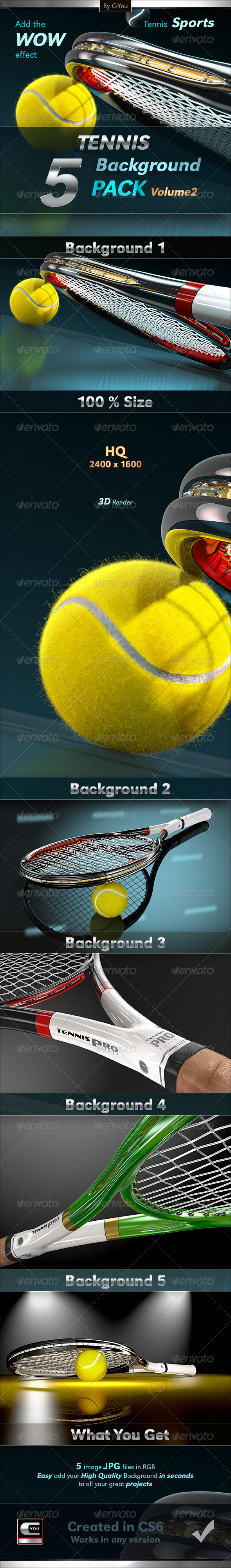 GraphicRiver Tennis Background Pack 2 5988926