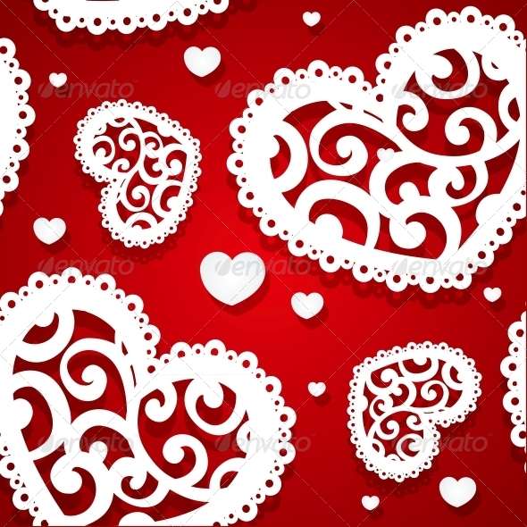 GraphicRiver Seamless Pattern of Appliques of Hearts 5988938