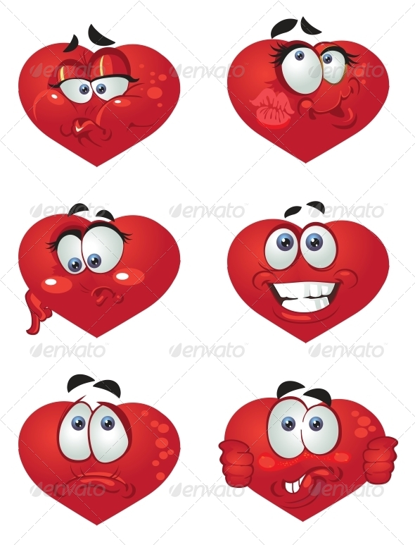 GraphicRiver Set of Butch Heart Smiles 5989089