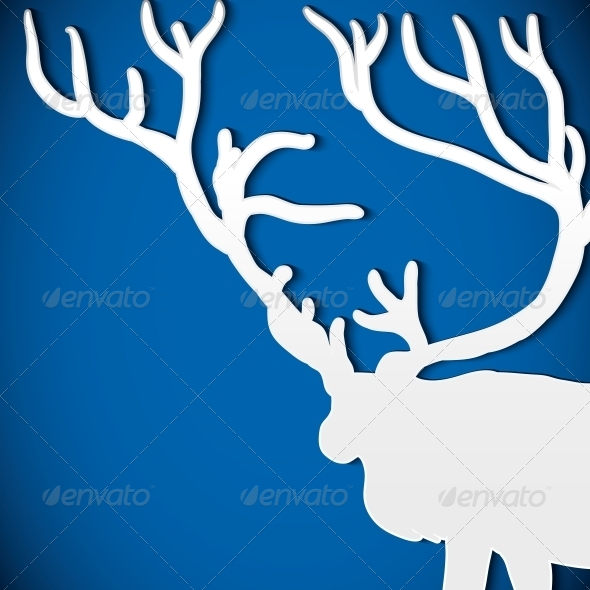 GraphicRiver Christmas Background with Deer 5989105