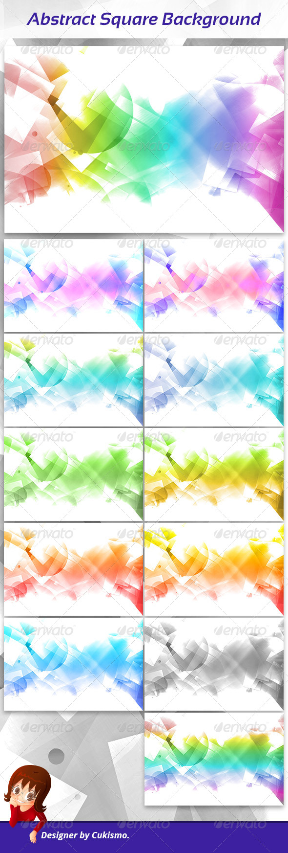 GraphicRiver Abstract Square Background 5966460