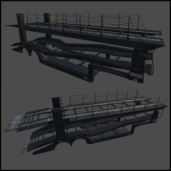 Car Transporter - 3DOcean Item for Sale