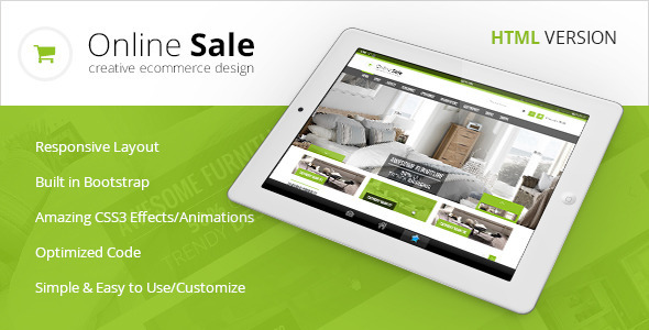 ThemeForest Online Sale Responsive HTML5 eCommerce Template 5989282