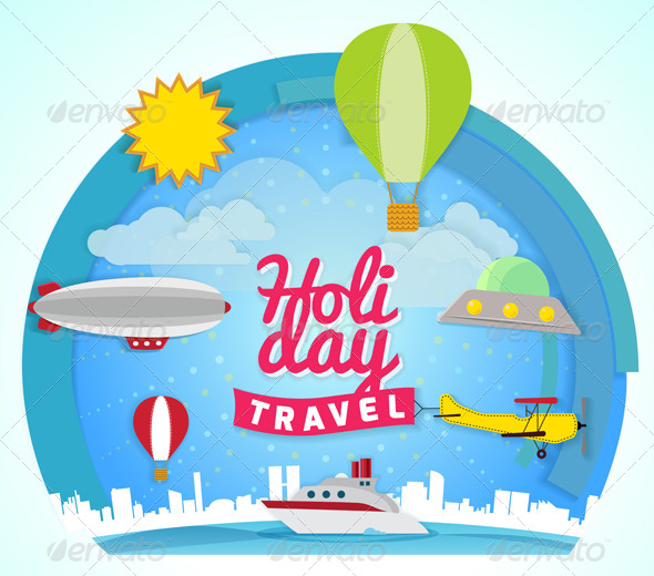 GraphicRiver Holiday Travel Concept Illustration 5989348