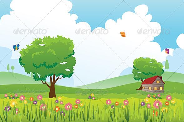 GraphicRiver Spring Season Nature Landscape 5989904