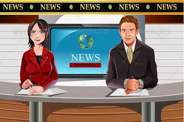 GraphicRiver TV News Anchors 5990181