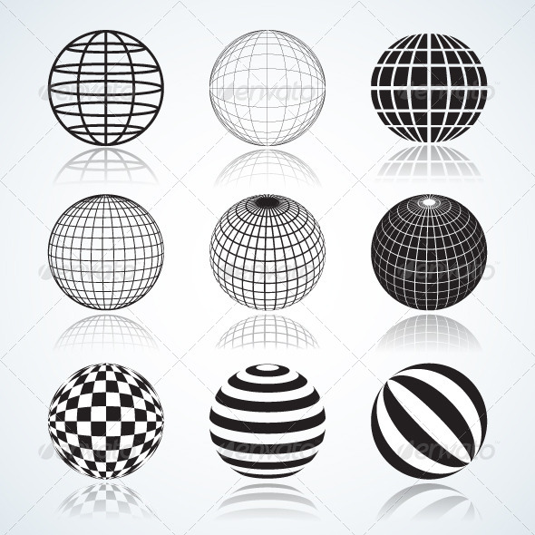 GraphicRiver Set of 9 Globes and Spheres 5990260