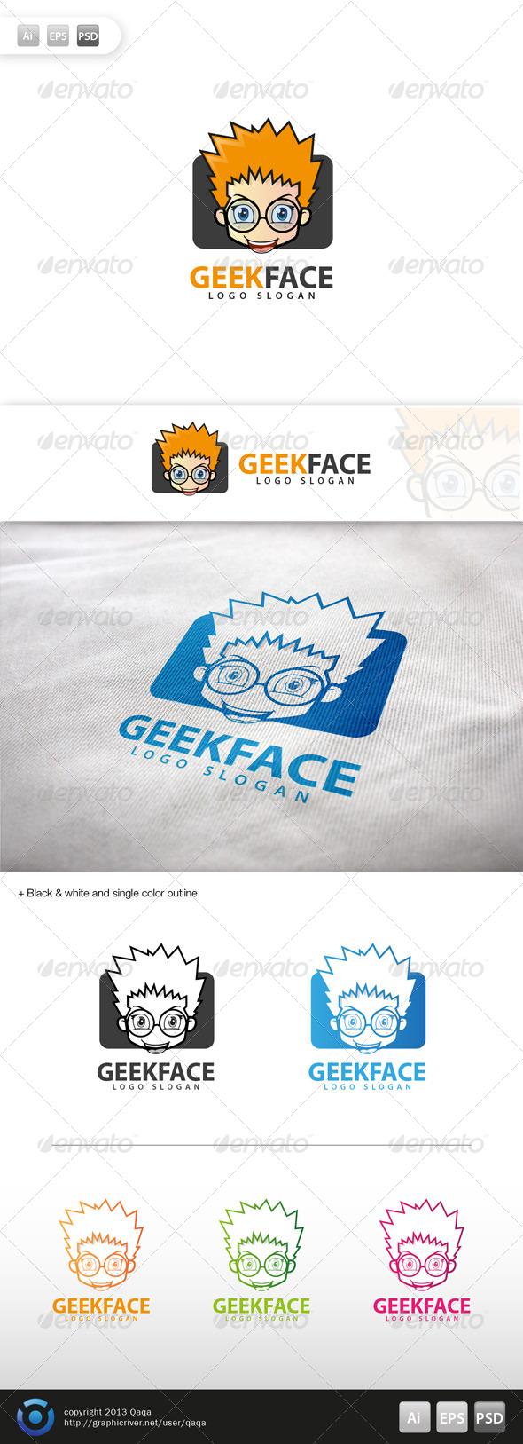GraphicRiver Geek Face Logo 01 5990289