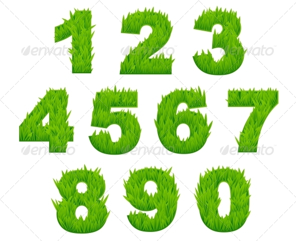 GraphicRiver Grass Numbers and Digits 5990389