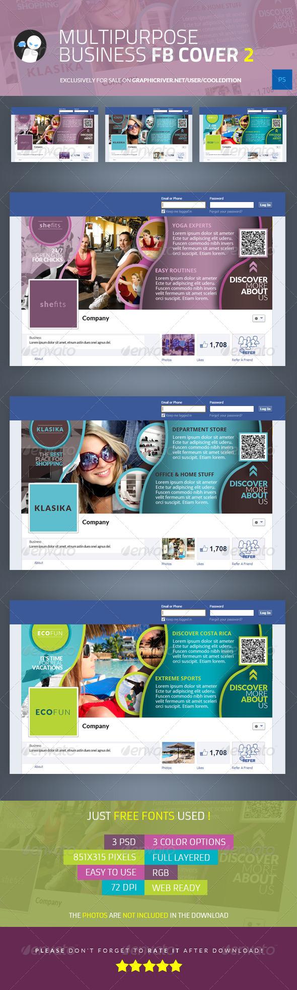 GraphicRiver Multipurpose Business Facebook Cover 2 5990493