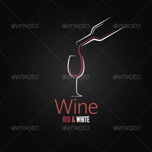 GraphicRiver Wine Concept Ornate Design 5990569