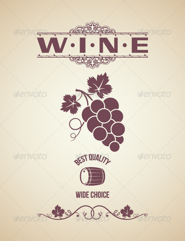 Wine Vintage Label Design