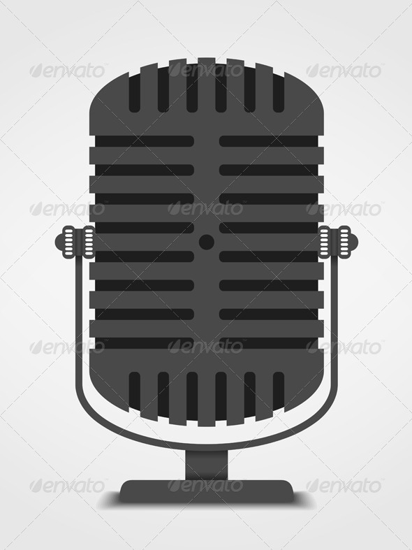 GraphicRiver Microphone Silhouette 5990697