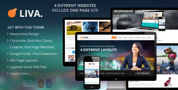 ThemeForest Liva Responsive MultiPurpose HTML5 Template 5990766