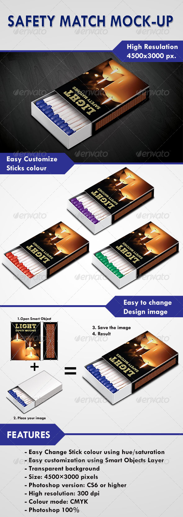 GraphicRiver Safety Match Mock-Up 5544984